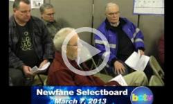 Newfane Selectboard Mtg. 3/7/13