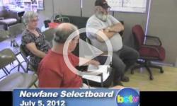 Newfane Selectboard Mtg. 7/5/12