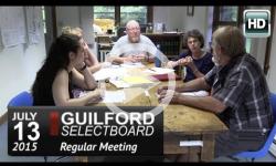Guilford Selectboard Mtg 7/13/15
