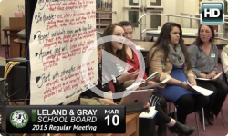 Leland and Gray School Board Mtg. 3/10/15