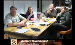 Guilford Selectboard Mtg. 11/25/13