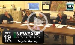 Newfane Selectboard Mtg 10/19/15