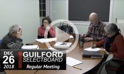 Guilford Selectboard Mtg 12/26/18