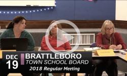 Brattleboro Town School Bd Mtg 12/19/18