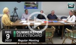 Dummerston Selectboard Mtg 12/9/15