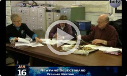 Newfane Selectboard Mtg. 1/16/14