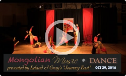 Journey East presents Mongolian Music and Dance- 10/29/16