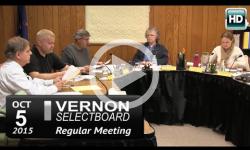 Vernon Selectboard Mtg 10/5/15