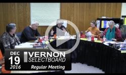 Vernon Selectboard Mtg 12/19/16