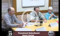 Townshend Selectboard Mtg. 8/19/13
