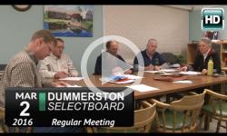 Dummerston Selectboard Mtg 3/2/16