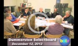 Dummerston SB Mtg. 12/12/12