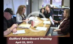 Guilford Selectboard Mtg 4/22/13
