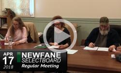 Newfane Selectboard Mtg 4/17/18