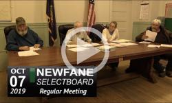 Newfane Selectboard Mtg 10/7/19
