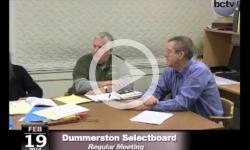 Dummerston SB Mtg. 2/19/14