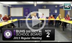 BUHS School Bd Mtg 11/2/15