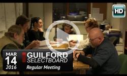 Guilford Selectboard Mtg 3/14/16
