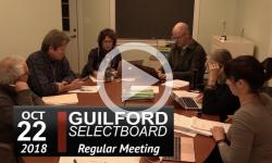 Guilford Selectboard Mtg 10/22/18