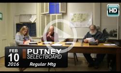 Putney Selectboard Mtg 2/10/16