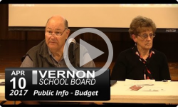 Vernon School Bd: 4/10/17 Budget Public Info Mtg