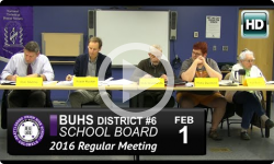 BUHS School Board Mtg 2/1/16