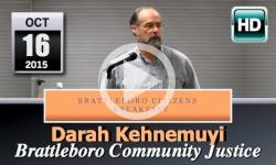 Brattleboro Citizens' Breakfast: Bratt Community Justice Ctr 10/16/15