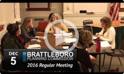 Brattleboro Planning Commission Mtg 12/5/16