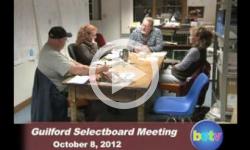 Guilford Selectboard Mtg. 10/8/12