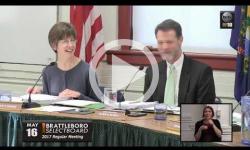 Brattleboro Selectboard Mtg. 5/16/17