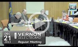Vernon Selectboard Mtg 12/21/15