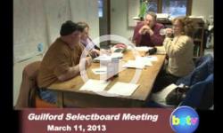 Guilford Selectboard Mtg. 3/11/13