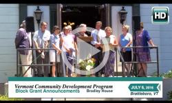 VT Community Development Program: Block Grants 7/6/16
