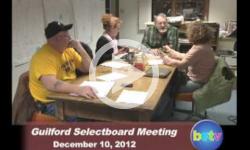 Guilford Selectboard Mtg. 12/10/12