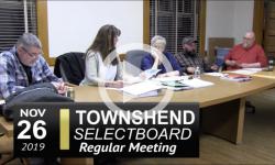 Townshend Selectboard Mtg 11/26/19