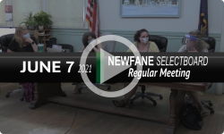 Newfane Selectboard: Newfane SB Mtg 6/7/21