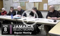 Jamaica Selectboard Mtg 4/8/19