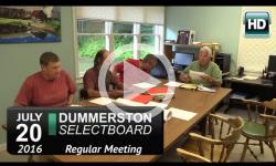 Dummerston Selectboard Mtg 7/20/16