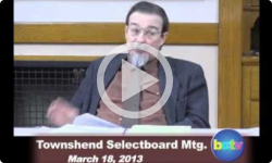 Townshend Selectboard Mtg. 3/18/13