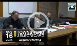 Townshend Selectboard: 11/16/15