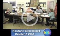 Newfane Selectboard Mtg. 10/4/12
