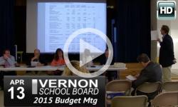Vernon School Board: 4/13/15 Special Budget Mtg