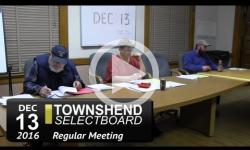 Townshend Selectboard Mtg 12/13/16
