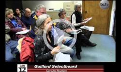 Guilford Selctboard Mtg 1/12/15