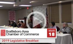 Brattleboro Area Chamber of Commerce: BACC Legislative Breakfast 3/18/19
