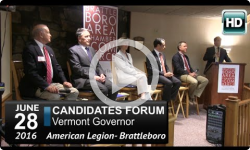 VT Governor's Candidate Forum - Brattleboro American Legion 6/28/16