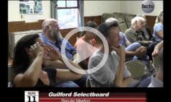 Guilford Selectboard Mtg 8/11/14