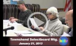 Townshend Selectboard Mtg. 1/21/13