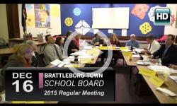 Brattleboro Town School Bd Mtg 12/16/15