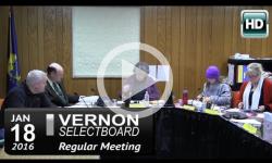 Vernon Selectboard Mtg 1/18/16